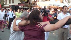 People dancing folk dance 5 stock video footage