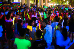People dancing. In a glow in the dark party Royalty Free Stock Photos
