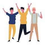 People dancing and having fun. Happy people dancing and having fun vector illustration graphic design royalty free illustration