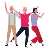 People dancing and having fun. Happy people dancing and having fun vector illustration graphic design stock illustration