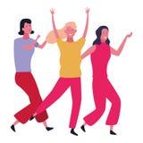 People dancing and having fun. Happy people dancing and having fun vector illustration graphic design vector illustration