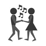 People dancing icon design Royalty Free Stock Photo