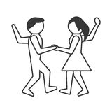 People dancing icon design Royalty Free Stock Photography