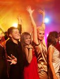People dancing in the night club Royalty Free Stock Image