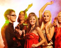 People dancing in the night club. Picture of a People dancing in the night club Royalty Free Stock Images
