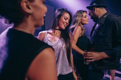 People dancing in the night club royalty free stock photography
