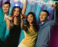 People dancing at night club Royalty Free Stock Photography