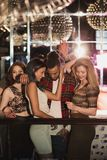 People In A Nightclub stock photography