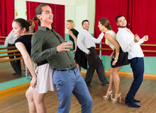 People dancing rock-and-roll Royalty Free Stock Photo