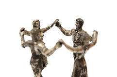 People dancing Sardana statue Stock Images