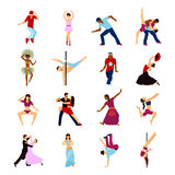 People Dancing Set Royalty Free Stock Photography
