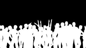 People Dancing Silhouette 3D Vector Animation stock video footage