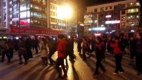 People Dancing in the Streets stock video footage