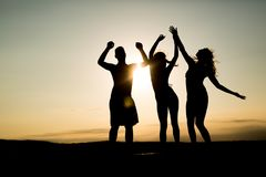 People dancing in summer royalty free stock photo