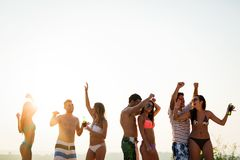 People dancing in summer stock images