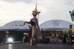 People dancing supreme thai mask or Khon dance drama thai style Royalty Free Stock Photos