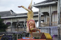 People dancing supreme thai mask or Khon dance drama thai style Royalty Free Stock Image