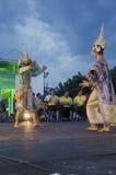 People dancing supreme thai mask or Khon dance drama thai style Royalty Free Stock Photo