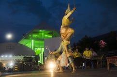 People dancing supreme thai mask or Khon dance drama thai style Stock Image