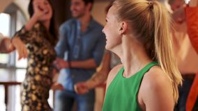People Dancing At A Party. People are dancing together at a formal event stock video footage