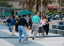 People are dancing at Union Square Stock Photo