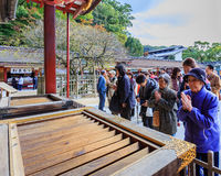 People at Dazaifu Tenmangu Stock Images