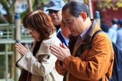 People at Dazaifu Tenmangu Stock Photography