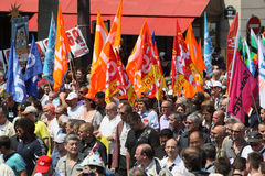 People demonstrate in Paris Royalty Free Stock Image