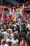 People demonstrate in Paris Royalty Free Stock Photo