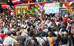 People demonstrate in Paris Stock Photography