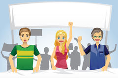 People demonstration. A vector illustration of people protesting in demonstration royalty free illustration