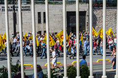 People demonstration against president Erdogan in Istanbul Royalty Free Stock Photography