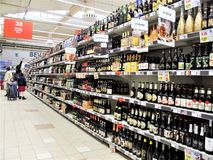 Auchan supermarket in Rome royalty free stock image