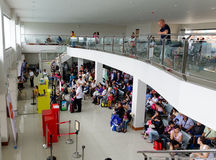 People at the Departure Gate of airport in Kalibo, Philippines Stock Photography