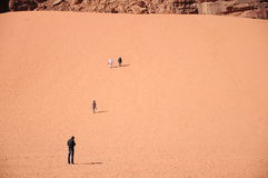 People on desert Stock Image