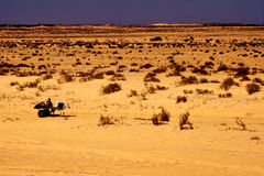 People in the desert of sahara Stock Image