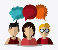 People design. Avatar icon. White background, vector Stock Photography