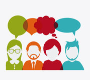 People design. Avatar icon. White background, vector Royalty Free Stock Images