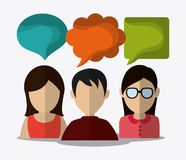 People design. Avatar icon. White background, vector Royalty Free Stock Photo