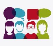People design. Avatar icon. White background, vector Stock Photos