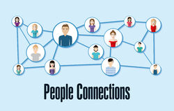 People design. Connection icon. Colorfull illustration, graphic Royalty Free Stock Images