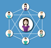 People design. Connection icon. Colorfull illustration, graphic Royalty Free Stock Photo