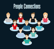 People design. Connection icon. Colorfull illustration, graphic Royalty Free Stock Photography
