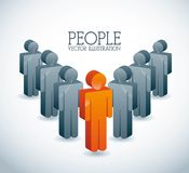 People. Design  over gray background vector illustration Stock Photography