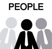 People. Design  over  white background vector illustration Stock Photography