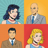 People design. Pop art icon. Retro and Colorfull illustration Royalty Free Stock Photography