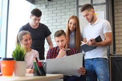 People and designers. Group of young business people and designers.They working on new project.Startup concept royalty free stock photo