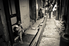 People of The Dharavi Slums of Mumbai, India Royalty Free Stock Images