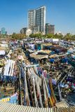 People at Dhobi Ghat. MUMBAI - 12 DECEMBER 2012: People at Dhobi Ghat, the world's largest outdoor laundry on December 12, 2012 in Mumbai, India Royalty Free Stock Image