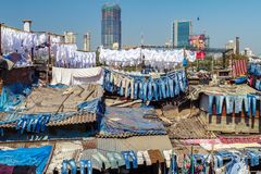 People at Dhobi Ghat Royalty Free Stock Image